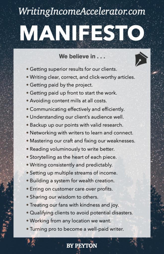 WIA Manifesto